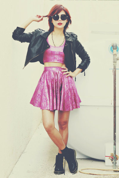 bubble gum blackmilkclothing skirt - black Fashion71 boots