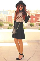 light orange ZLZcom dress - black Romwecom bag - black suede choiescom heels