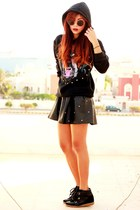 black Romwecom boots - black Romwecom jacket - black Romwecom skirt