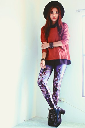 charcoal gray underworld LOVELYSALLYCOM leggings