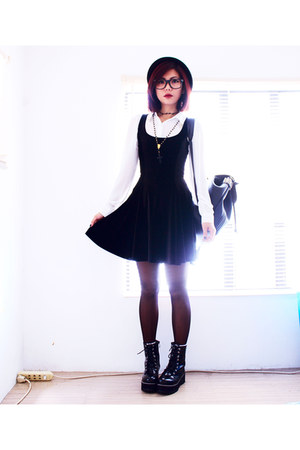 black wholesale7net boots - black velvet skater Blackmilkclothingcom dress