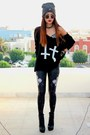Black-faust-lovelysally-leggings-black-double-cross-inlovewithfashion-jumper