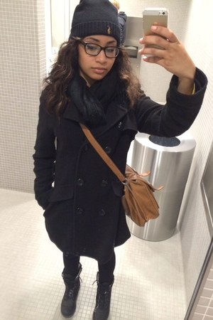 black Accessorize boots - black Ralph Lauren hat - black jacket