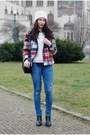 Blue-h-m-jeans-ruby-red-zara-jacket-black-zara-bag