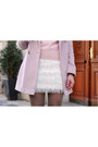 Light-pink-warehouse-coat-off-white-h-m-skirt-light-pink-vintage-jumper