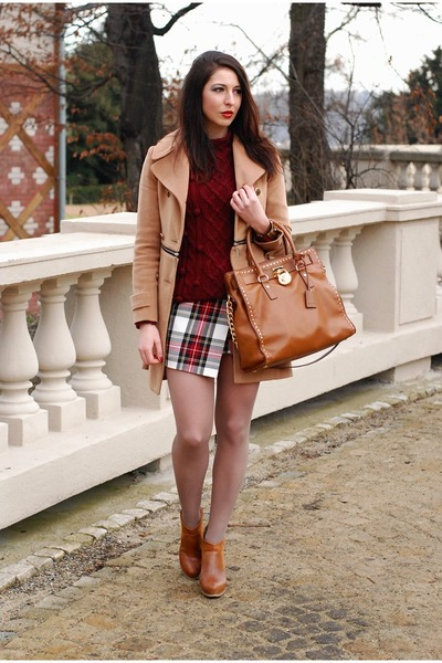Off White Diy Skirt Camel Vj Style Coat Tawny Michael Kors Bag