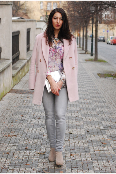 Light Pink Warehouse Coats, Lindex Jeans, Light Purple DIY Shirts ...