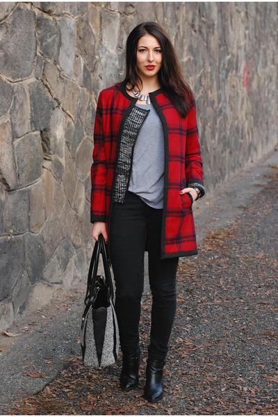 lindex jacket - reserved boots - DIY coat
