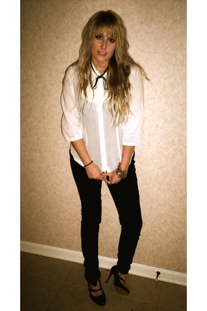 cream dr zhivago h&m shirt - BDG jeans - vintage shoes