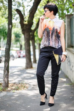 white Gufo Wear shirt - light yellow Rename bag - black Choies sandals