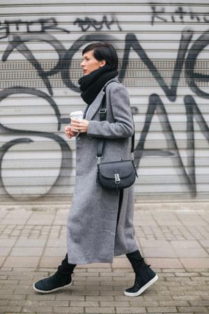 Zara shoes - Choies coat - shirt - Parfois bag - H&M pants