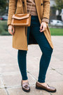 Bronze-zara-coat-mustard-cream-of-scandinavia-sweater-tawny-ofinger-bag