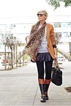 black Tommy Hilfiger boots - tawny Sheinsidecom blazer - black Oasapcom bag