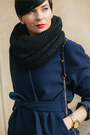 Navy-front-row-shop-coat-black-h-m-scarf-black-oasap-bag-black-zara-heels