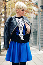Black-lindex-jacket-black-sheinside-sweater-blue-sandra-lalović-skirt