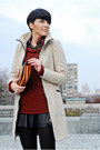 Beige-zara-coat-crimson-new-yorker-sweater-tawny-oasap-bag