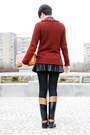 Beige-zara-coat-crimson-new-yorker-sweater-tawny-oasap-bag
