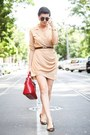 Camel-6ks-dress-ruby-red-choies-bag-dark-brown-zerouv-sunglasses