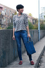 Blue-zara-jeans-heather-gray-club-couture-sweater-navy-oasap-bag