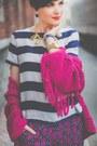 Hot-pink-lindex-sweater-white-lindex-shirt-blue-lindex-pants