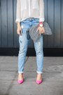 Blue-new-yorker-jeans-white-chiffon-6ks-shirt-black-terranova-bag