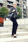 Heather-gray-lindex-blazer-black-lindex-bag-silver-lindex-blouse