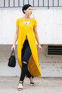 Black-mango-jeans-mustard-zara-shirt-black-lindex-bag