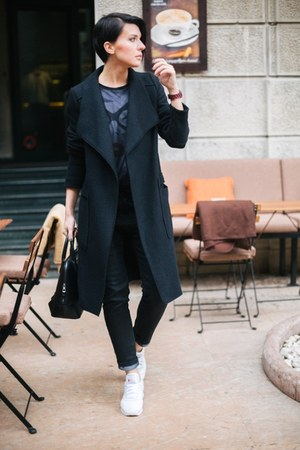 Zara coat - desigual jeans - Mexx bag - Reebok sneakers - Beetle Bo t-shirt