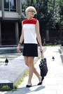 White-chicnova-dress-black-romwe-bag-black-h-m-flats