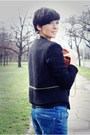 Black-sheinside-blazer-navy-zara-jeans-tawny-oasap-bag