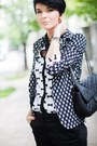 Gray-sheinside-blazer-white-sheinside-shirt-black-waokao-bag
