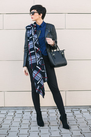 black Zara shoes - black Matthew Williamson for Lindex jacket - navy OASAP shirt