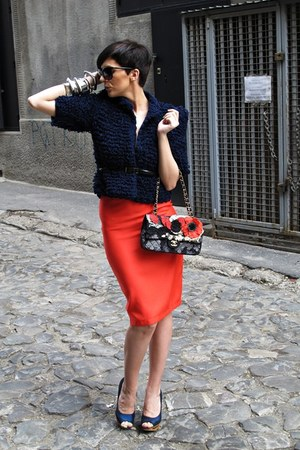handmade jacket - Chanel bag - handmade skirt - Rebulic heels