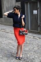 handmade jacket - Chanel bag - handmade skirt - Rebulic heels