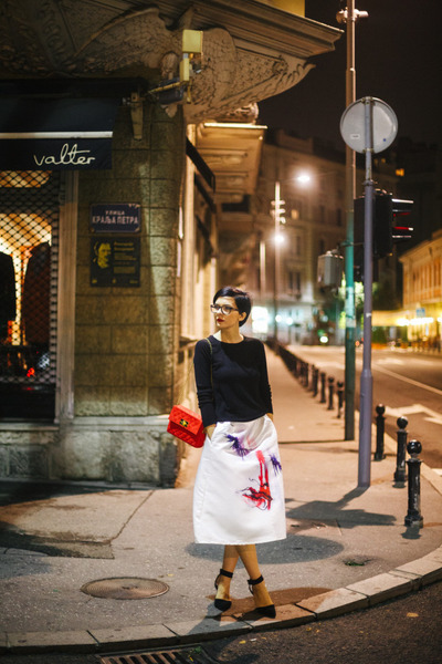 Tommy Hilfiger watch - Mistral bag - Choies sandals - zaful skirt