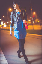 black Momenti boots - blue Aleksandar Zabunovic dress