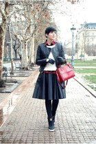 black chictopia shop skirt - black lindex jacket - white Zara sweater