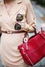 Camel-6ks-dress-ruby-red-choies-bag-dark-brown-zerouv-sunglasses