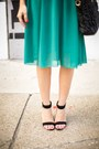 Teal-abaday-dress-black-romwe-bag-black-zerouv-sunglasses