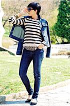 blue Zara jeans - blue Dorothy Perkins jacket - camel New Yorker sweater