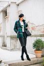 Black-zara-shoes-forest-green-sheinside-coat-white-new-yorker-sweater