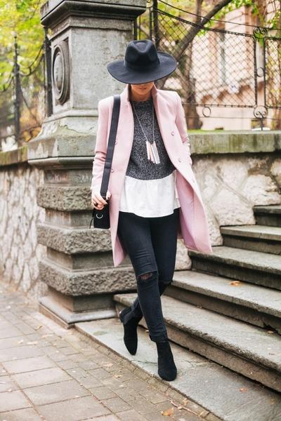 Jagger coat - lindex hat - Parfois bag - shein blouse