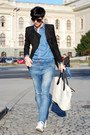 Bershka-jeans-sheinside-blazer-sheinside-shirt-h-m-bag-converse-sneakers