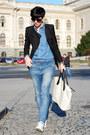 Bershka-jeans-sheinside-blazer-sheinside-shirt-h-m-bag-converse-sneakers