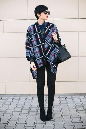 black Zara shoes - black Matthew Williamson for Lindex jacket - navy OASAP shirt