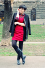 Black-us-polo-boots-ruby-red-sheinside-dress-black-sheinside-coat