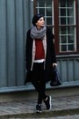 White-h-m-sweater-gray-h-m-scarf-black-mexx-bag-black-orsay-pants