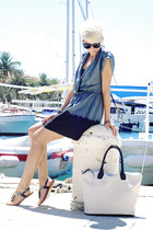 dark gray Love dress - off white H&M bag - black naughty monkey sandals