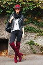 Brick-red-aldo-boots-black-mango-jeans-brick-red-aldo-hat