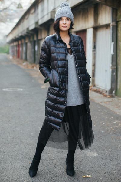 black H&M dress - black Metisu jacket - gray H&M sweater
